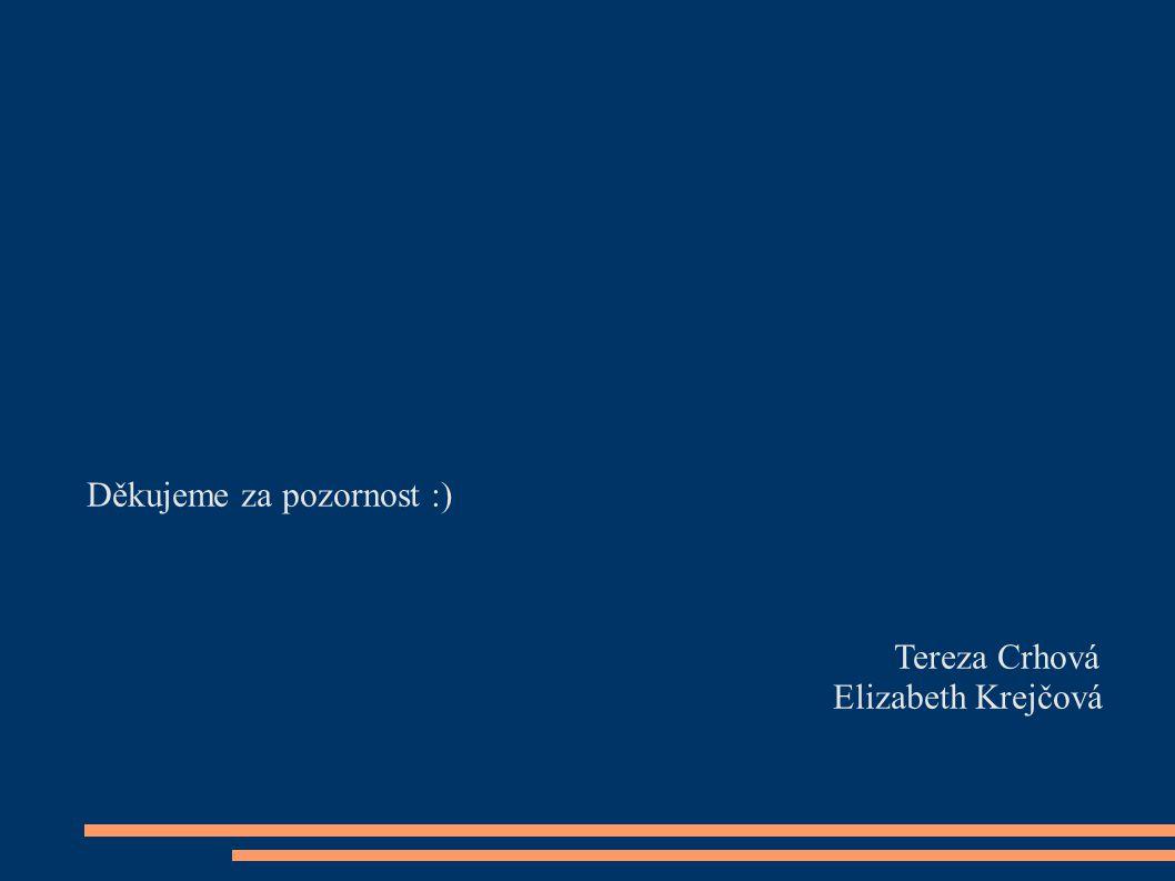 Děkujeme za pozornost :) Tereza Crhová Elizabeth Krejčová