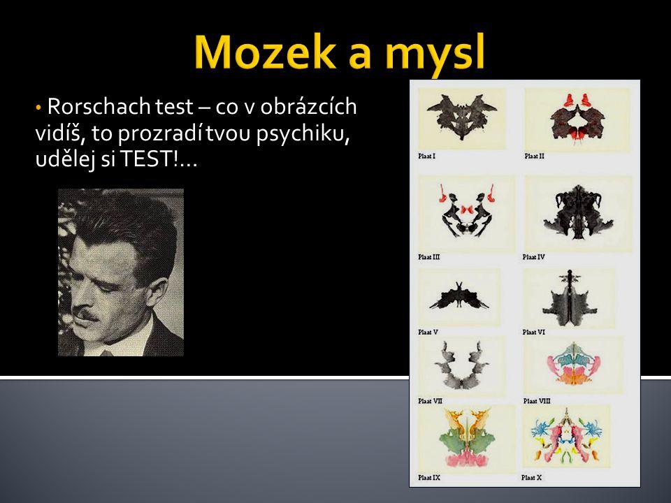 Rorschach test – co v obrázcích vidíš, to prozradí tvou psychiku, udělej si TEST!…