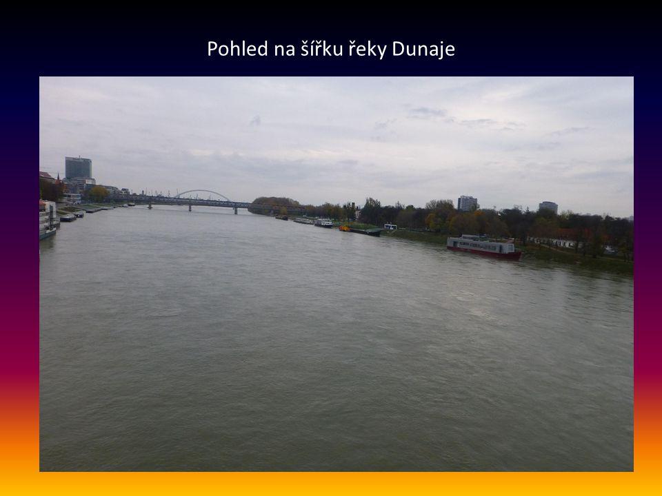 Pohled na část města, řeku Dunaj a mosty