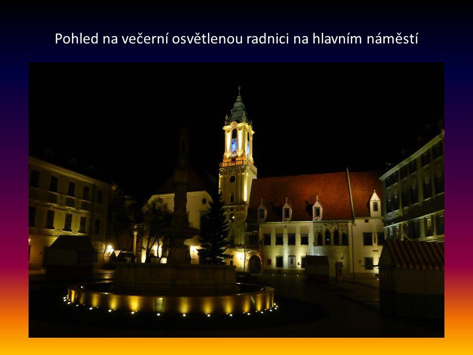 Staré město, hlavní náměstí s kašnou a radnicí