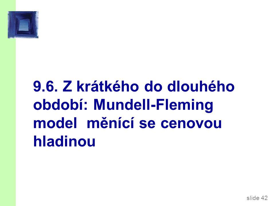 slide 42 9.6. Z krátkého do dlouhého období: Mundell-Fleming model měnící se cenovou hladinou