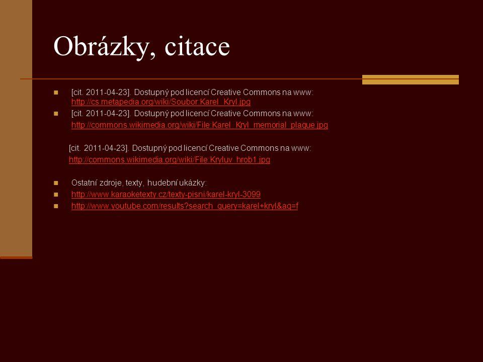 Obrázky, citace [cit.2011-04-23].