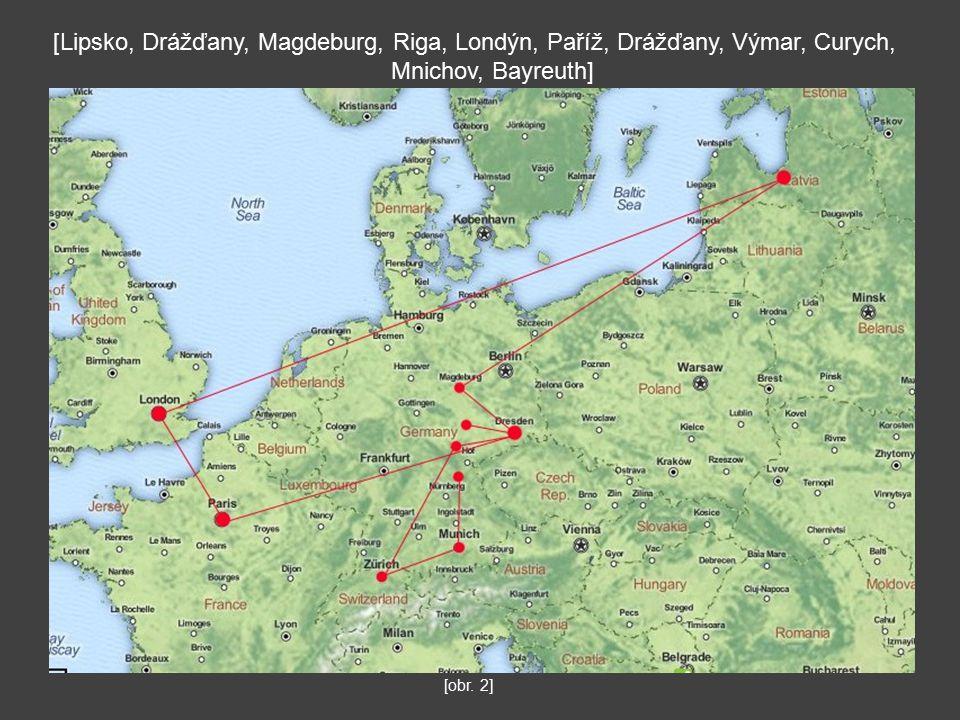 [Lipsko, Drážďany, Magdeburg, Riga, Londýn, Paříž, Drážďany, Výmar, Curych, Mnichov, Bayreuth] [obr.