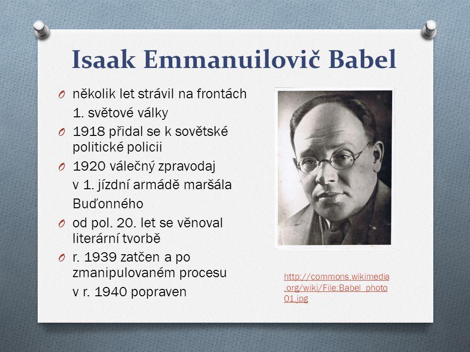 Isaak Emmanuilovič Babel O několik let strávil na frontách 1.