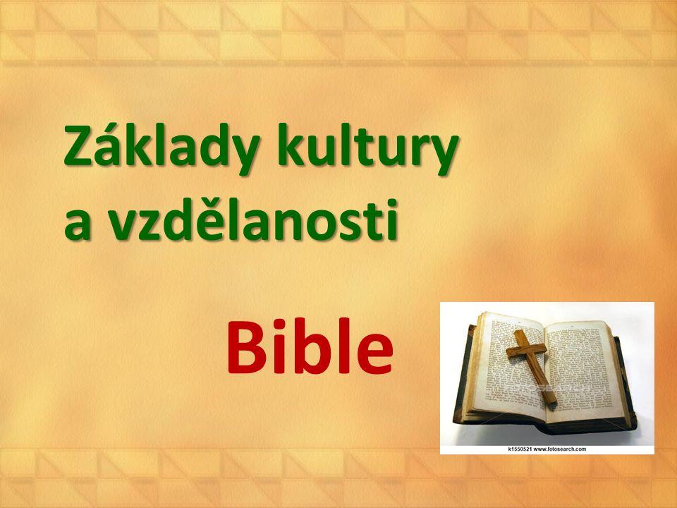 Základy kultury a vzdělanosti Bible