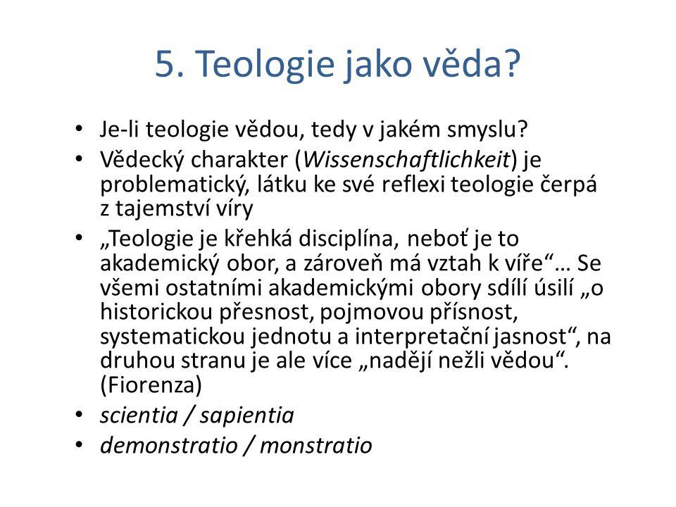 Teologie jako věda.