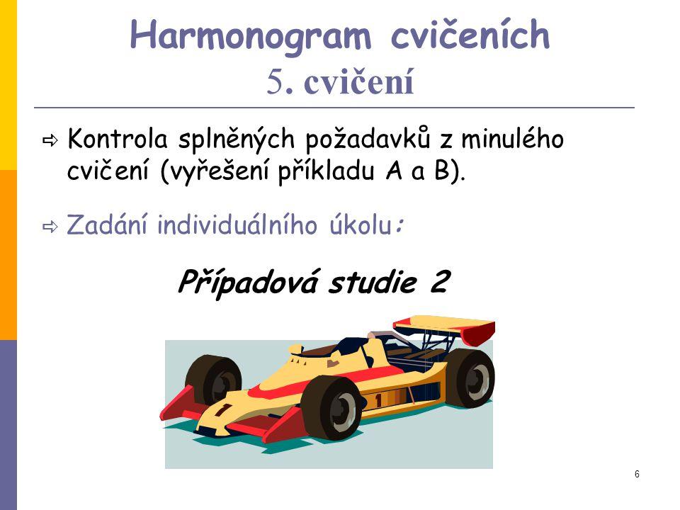 5 Harmonogram cvičeních 4.