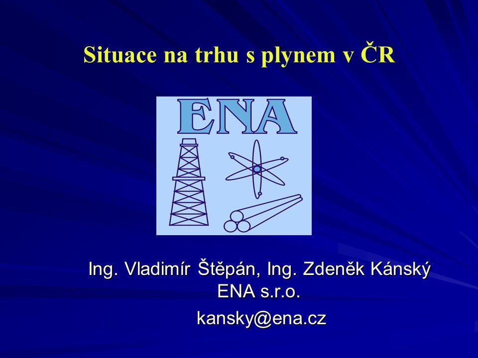 Situace na trhu s plynem v ČR Ing.Vladimír Štěpán, Ing.