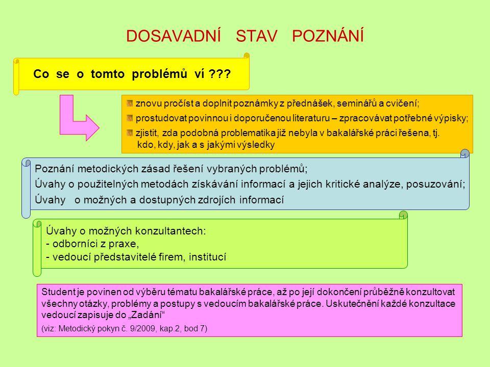 STRUKTURA BAKALÁŘSKÉ PRÁCE ú v o d 1.