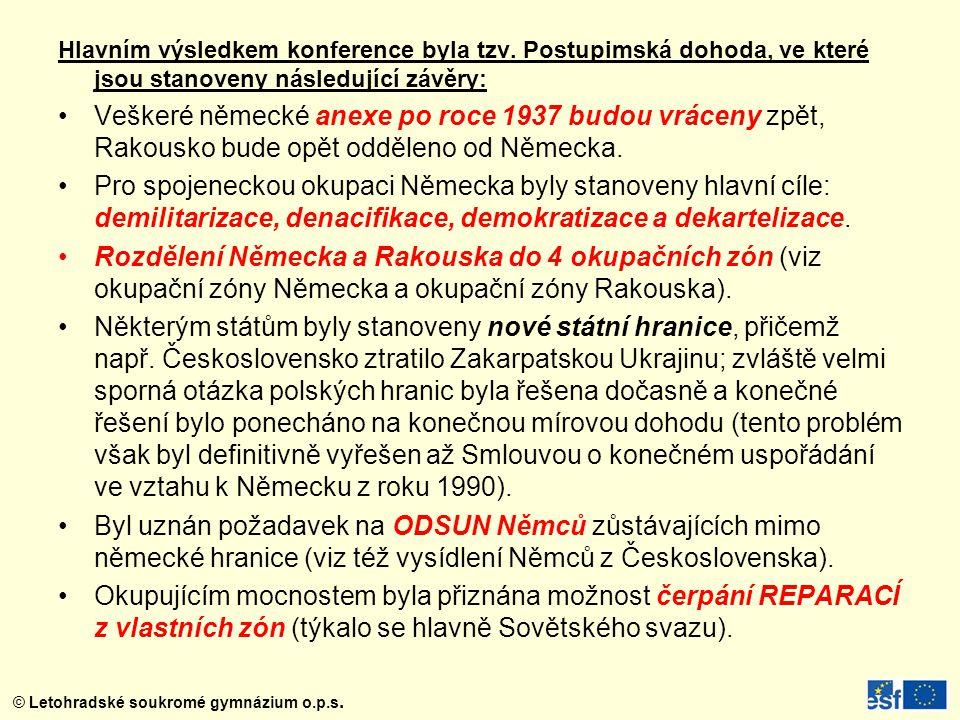 © Letohradské soukromé gymnázium o.p.s.Hlavním výsledkem konference byla tzv.