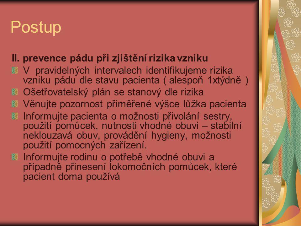 Postup II.