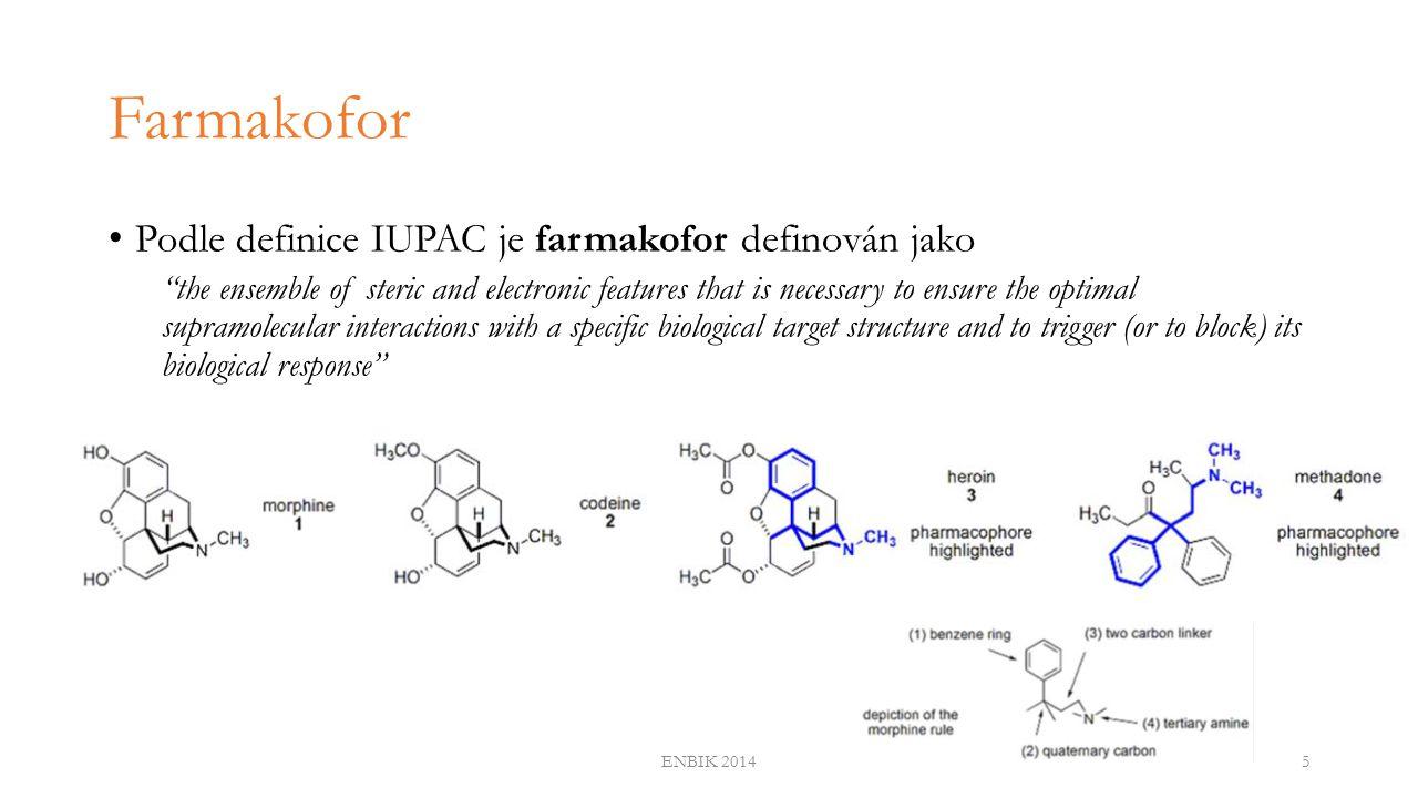 Farmakoforové vlastnosti ENBIK 20146 hydrophobic feature hydrogen bond acceptor (HBA) feature + projected point aromatic ring feature + projected point hydrophobic feature