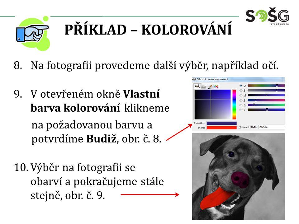PŘÍKLAD – ČERNOBÍLÁ FOTOGRAFIE Další možností je vytvoření černobílé fotografie z barevné.