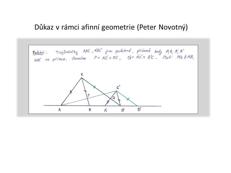 Důkaz v rámci afinní geometrie (Peter Novotný)