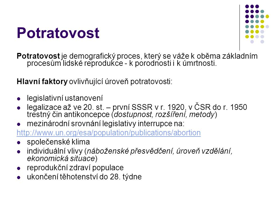 Definice potratu 1.