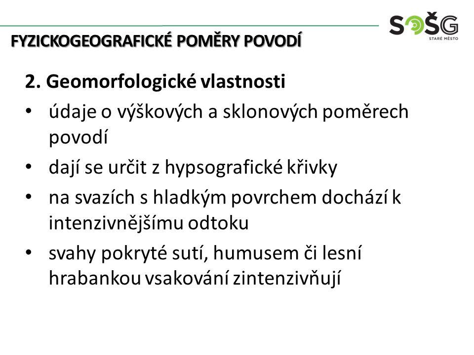 FYZICKOGEOGRAFICKÉ POMĚRY POVODÍ 2.