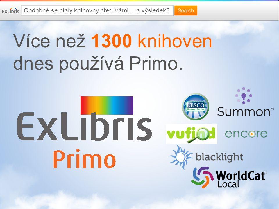 Více než 1300 knihoven dnes používá Primo. Local Obdobně se ptaly knihovny před Vámi… a výsledek?