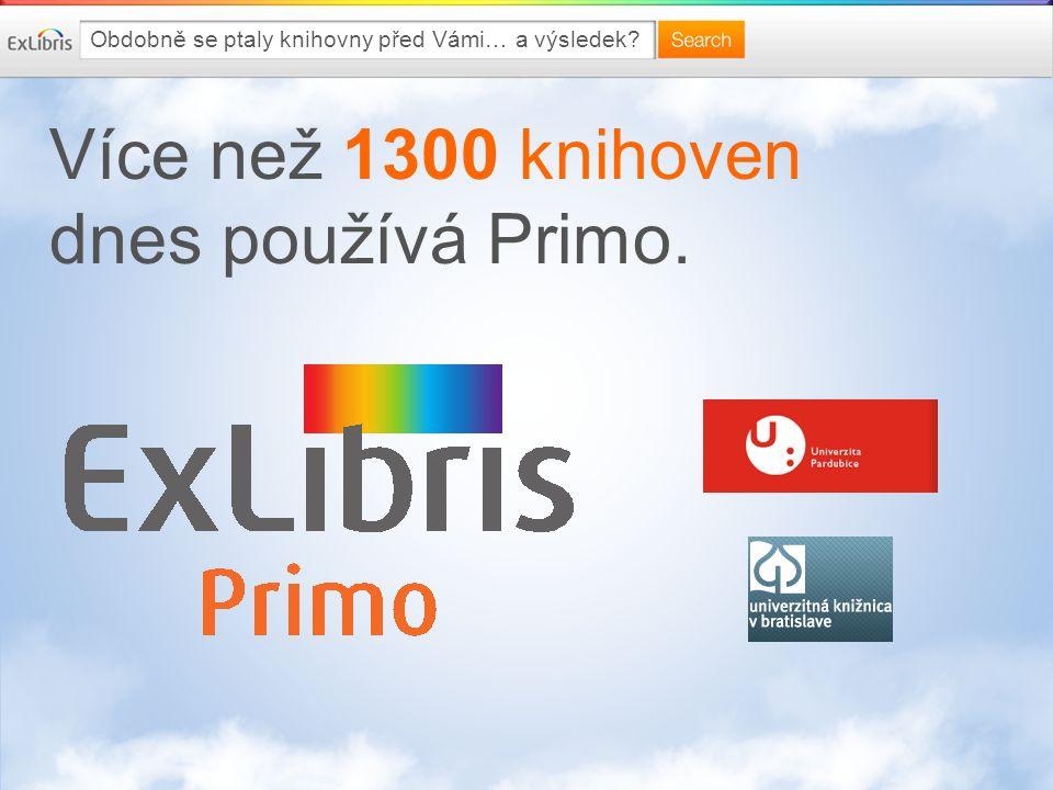 Více než 1300 knihoven dnes používá Primo. Obdobně se ptaly knihovny před Vámi… a výsledek?