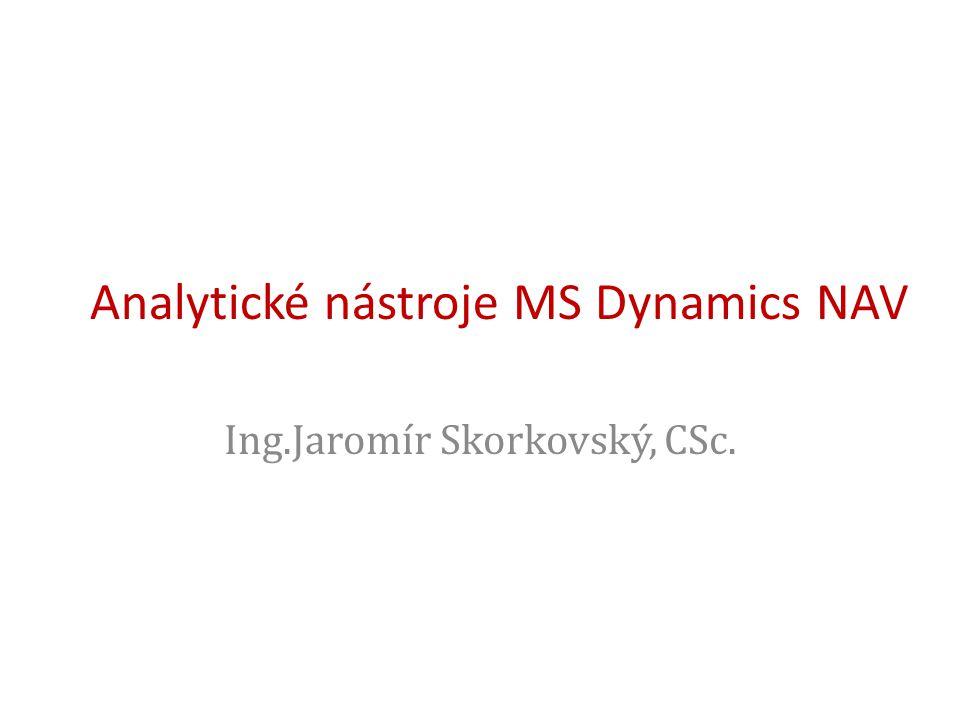 Analytické nástroje MS Dynamics NAV Ing.Jaromír Skorkovský, CSc.