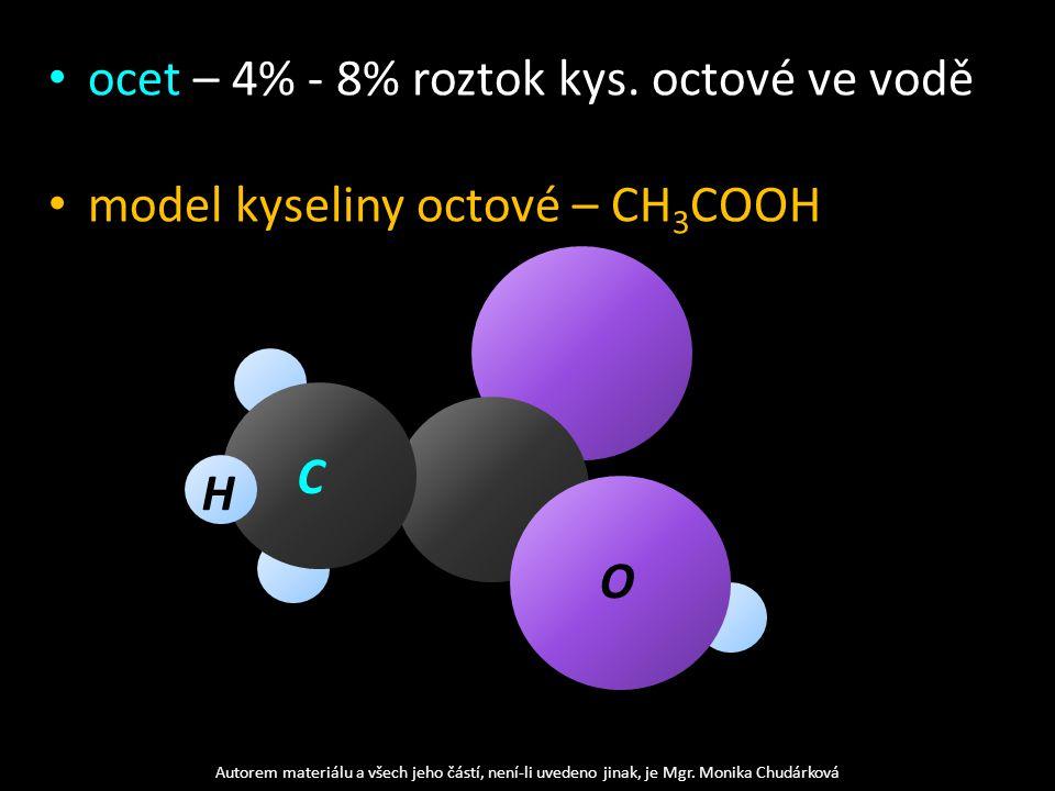 ocet – 4% - 8% roztok kys.