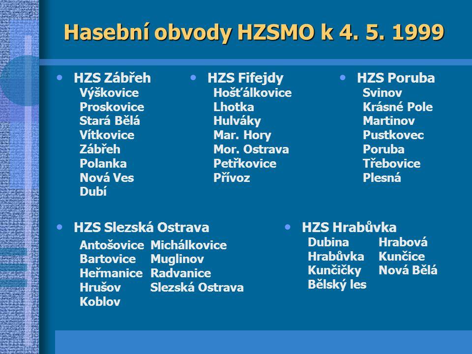 Hasební obvody HZSMO k 4.5.