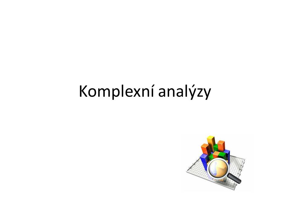 Komplexní analýzy