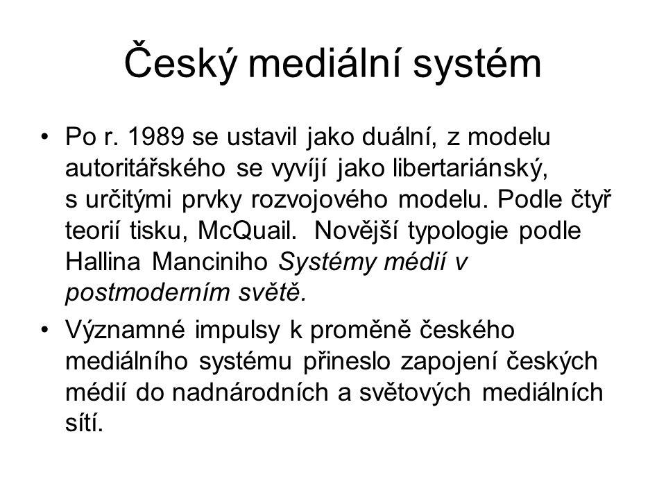 Český mediální systém Po r.