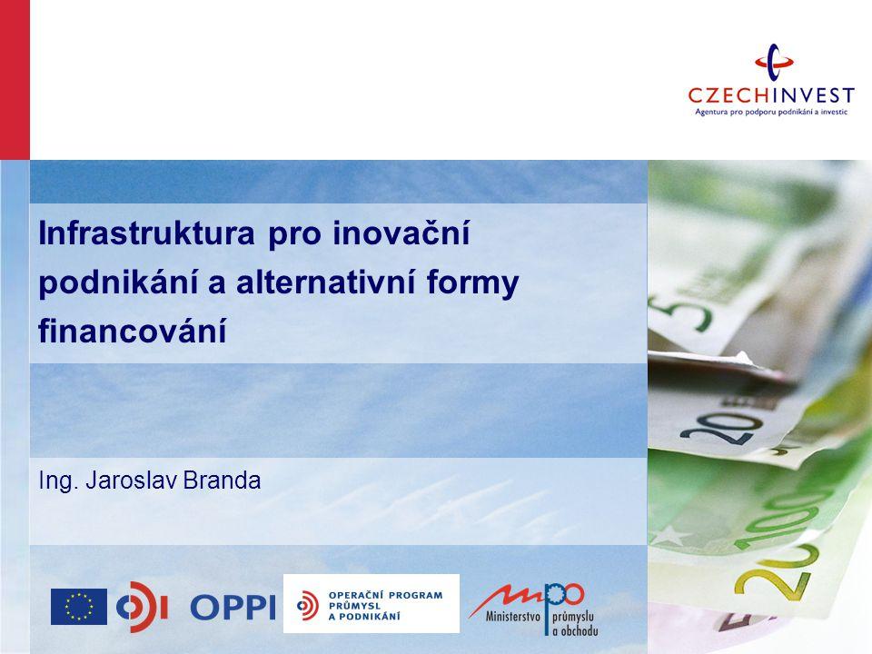 Infrastruktura pro inovační podnikání a alternativní formy financování Ing. Jaroslav Branda