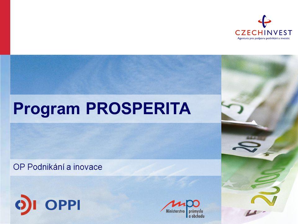 Program PROSPERITA OP Podnikání a inovace