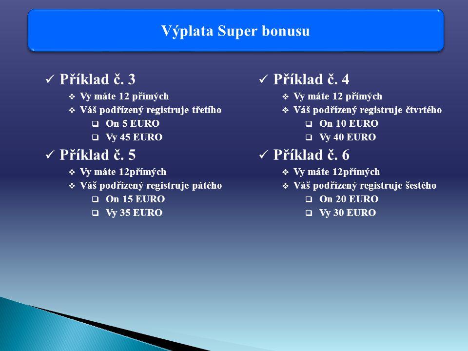Výplata Super bonusu Příklad č.
