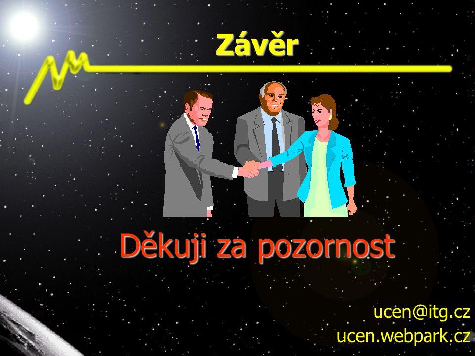 Závěr Děkuji za pozornost ucen@itg.cz ucen.webpark.cz