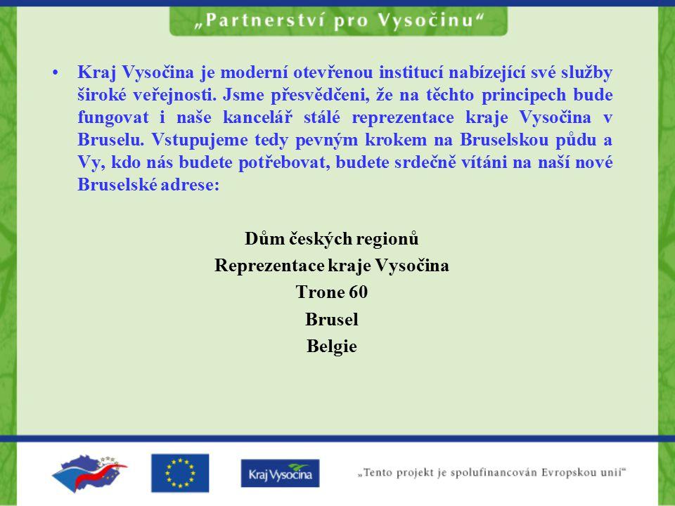 Kraj Vysočina je moderní otevřenou institucí nabízející své služby široké veřejnosti.