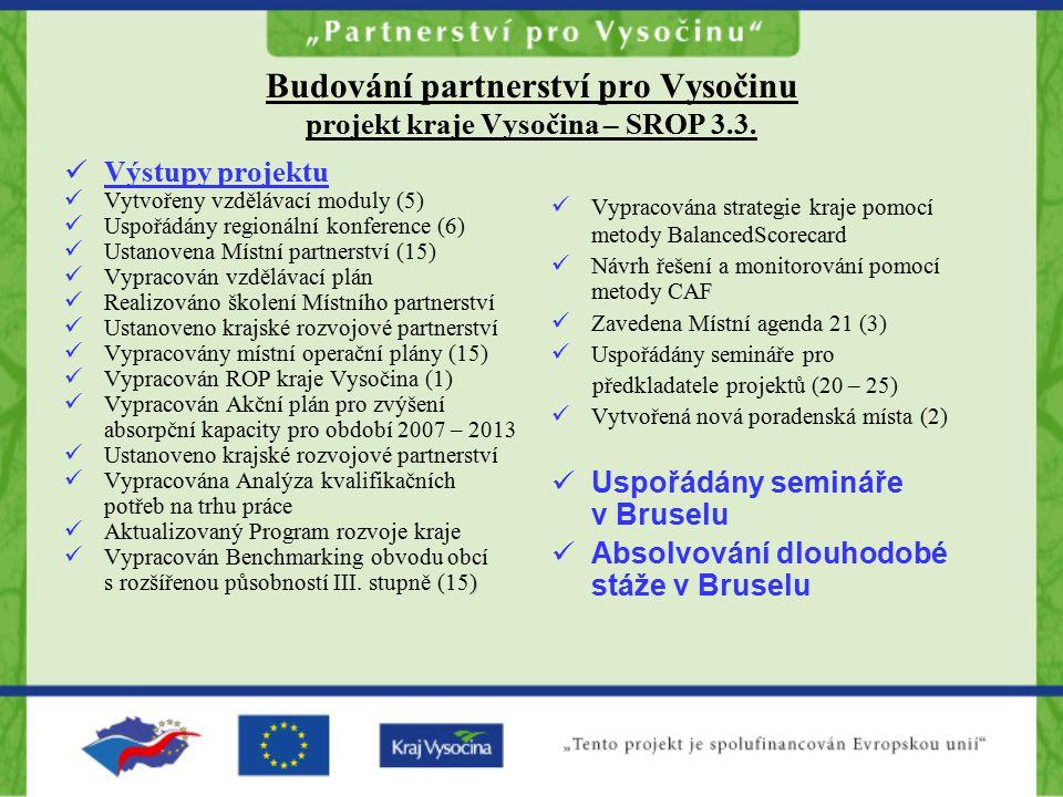 Budování partnerství pro Vysočinu projekt kraje Vysočina – SROP 3.3.