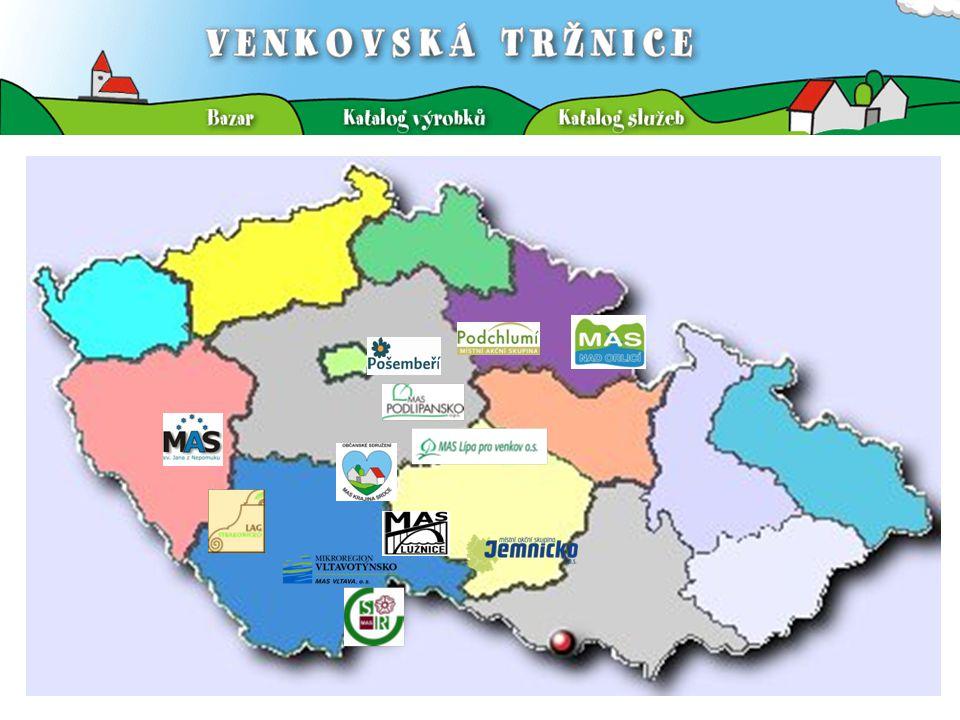 VENKOVSKÁ TRŽNICE Cíl projektu Posilování vlastní akceschopnosti venkovských území, resp.