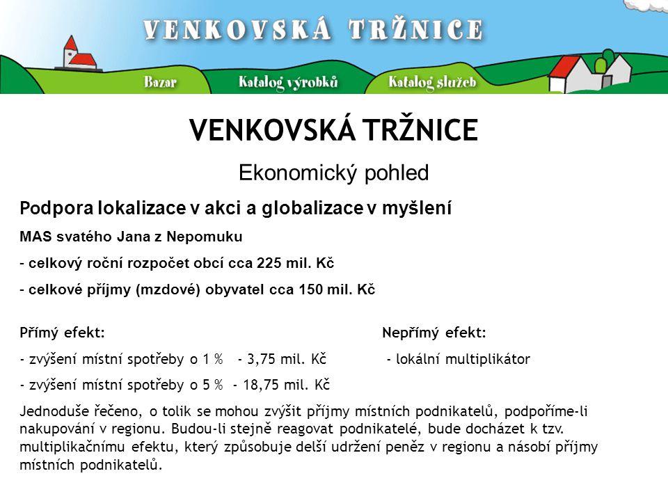 VENKOVSKÁ TRŽNICE Statistika Venkovské tržnice II.