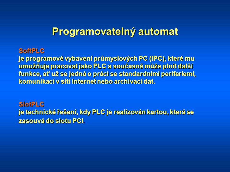 Programovatelný automat SoftPLC je programové vybavení průmyslových PC (IPC), které mu umožňuje pracovat jako PLC a současně může plnit další funkce,