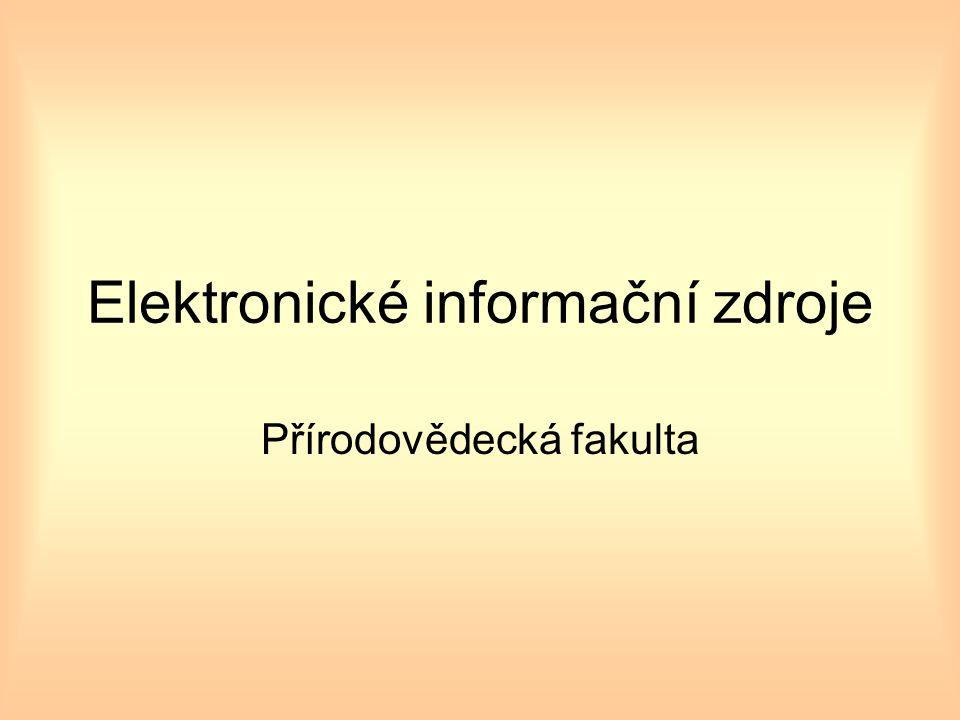 Typologie EIZ hledisko popisu primárního dokumentu –plnotextové (primární) –bibliografické (sekundární) hledisko obsahu –multioborové –speciální