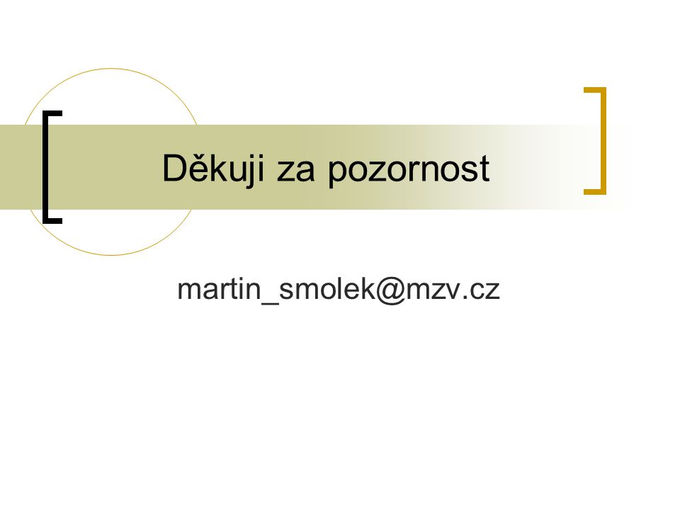 Děkuji za pozornost martin_smolek@mzv.cz