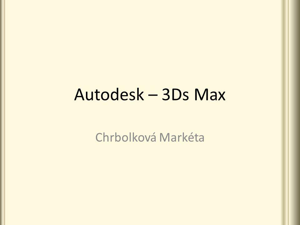 Obsah 1.O programu 3Ds Max 2.Využití 3.Praktické ukázky 4.Formát DWF 5.Užitečné odkazy