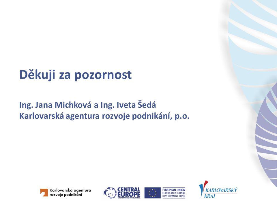 Děkuji za pozornost Ing. Jana Michková a Ing.