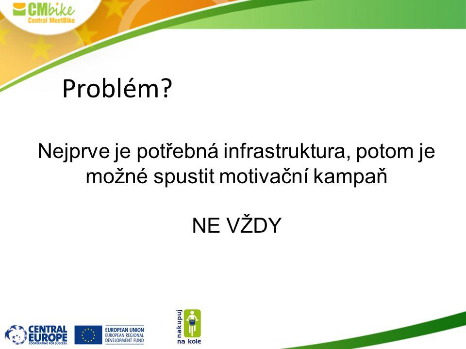 Problém? Nejprve je potřebná infrastruktura, potom je možné spustit motivační kampaň NE VŽDY