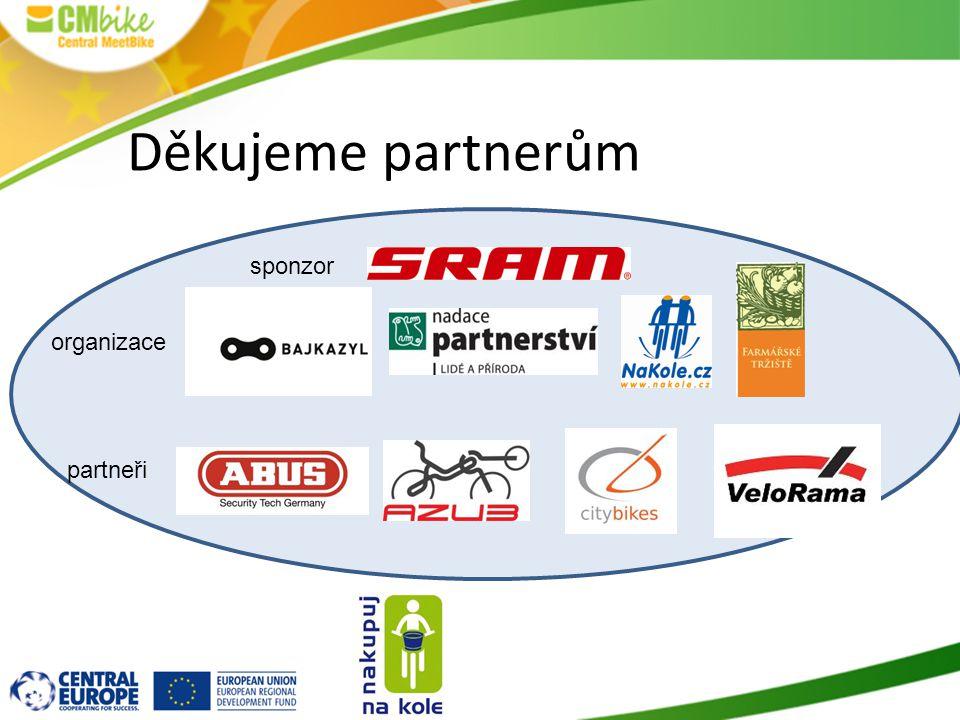 Děkujeme partnerům sponzor organizace partneři
