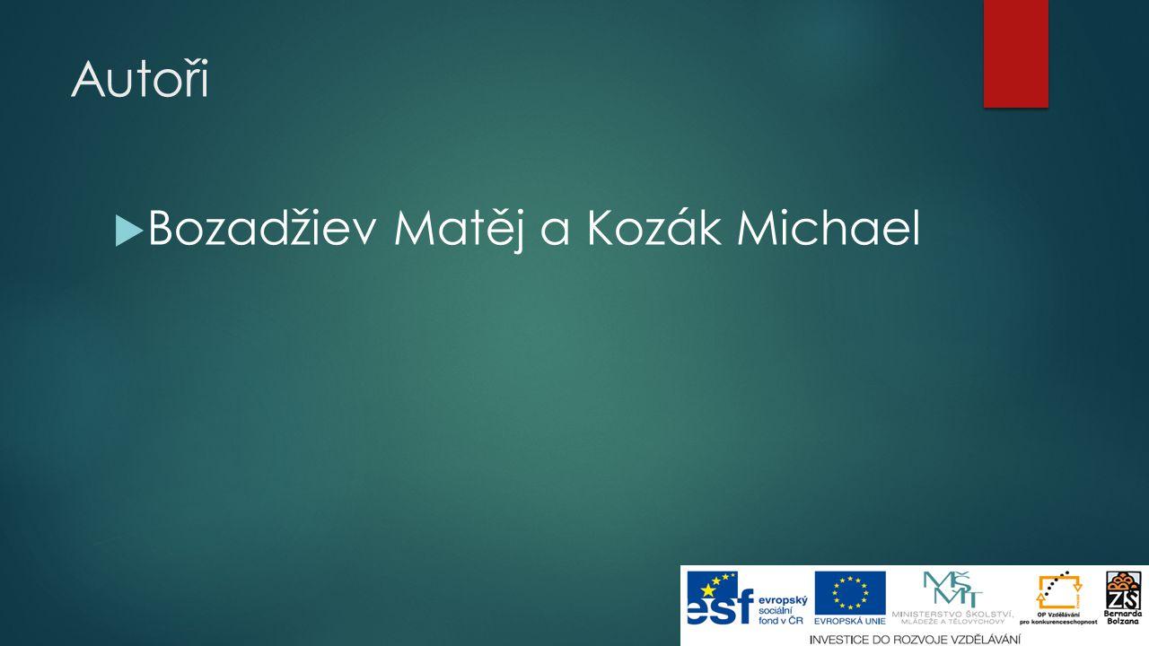 Autoři  Bozadžiev Matěj a Kozák Michael