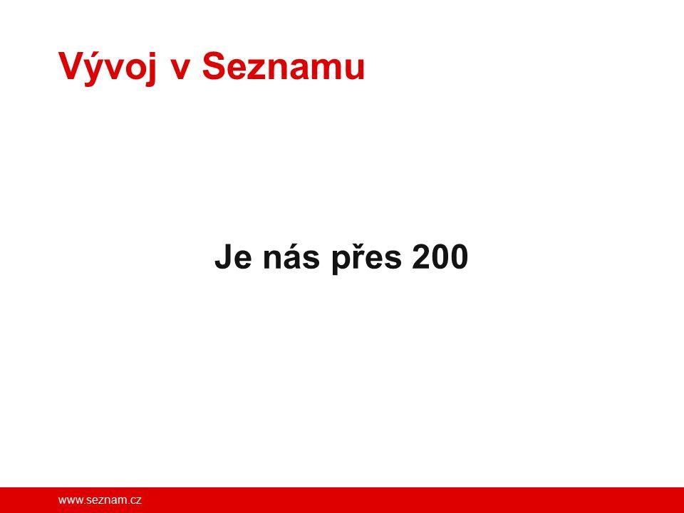 www.seznam.cz Vývoj v Seznamu Je nás přes 200