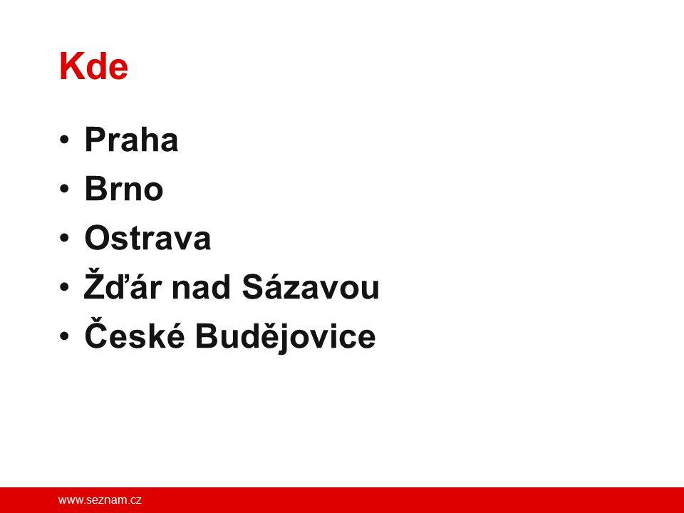 www.seznam.cz Kde Praha Brno Ostrava Žďár nad Sázavou České Budějovice