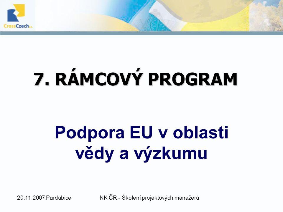 20.11.2007 PardubiceNK ČR - Školení projektových manažerů 7.