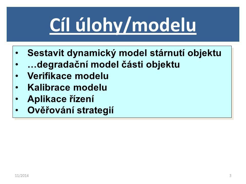 11/201414 Teorie výpočtu modelu Stárnutí konstrukce popisuje degradační nelineální model.