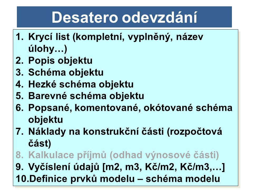11/201431 Desatero odevzdání 1.Krycí list (kompletní, vyplněný, název úlohy…) 2.Popis objektu 3.Schéma objektu 4.Hezké schéma objektu 5.Barevné schéma