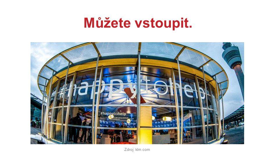 Můžete vstoupit. Zdroj: klm.com