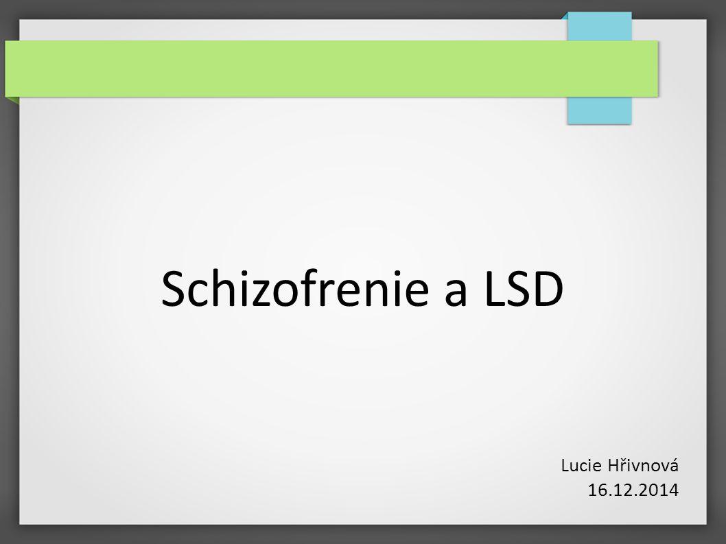 """Schizofrenie ● začíná obvykle mezi 15 až 30 lety ● etiologie patrně multifaktoriální (genetika, prostředí) ● teorie zátěže a dispozice ● dědičná či získaná schopnost mozku zvládat zátěžové situace ● dopaminová hypotéza (+ serotonin) ● agonisté dopaminu způsobují psychózy (amfetamin) ● neléčení schizofrenici – zvýšené množství D receptorů v mozku ● (neurovývojový model ● jen vyvrcholení procesu začínajícího velmi časně při vývoji mozku jedince) ● porucha koordinace vjemů v prefrontální kůře ● dopaminová dysbalance – vznik """"rušivých signálů = narušení analýzy vjemů ● defekty asociačního myšlení, emoční oploštělost, halucinace, bludy"""